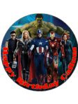 7.5  Avengers Assemble Thor Iron Man etc Personalised Edible Icing or Wafer Paper Cake Top Topper